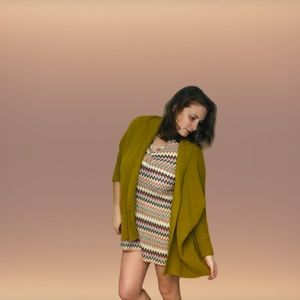Forever 21 Mustard Open Front Sweater